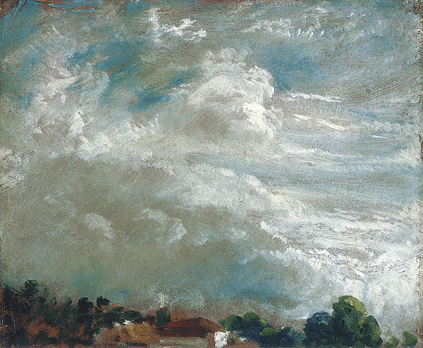 Cloud study, horizon of trees. 27 sept 1821