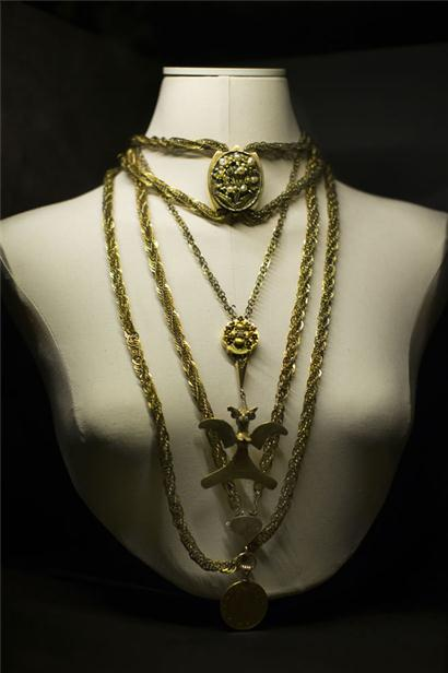 Kahlo's jewelry, from the Museo Frida Kahlo.