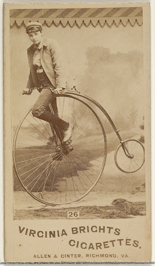 Card 26, from the Girl Cyclists series for Virginia Brights Cigarettes at the Metropolitan Museum of Art.
