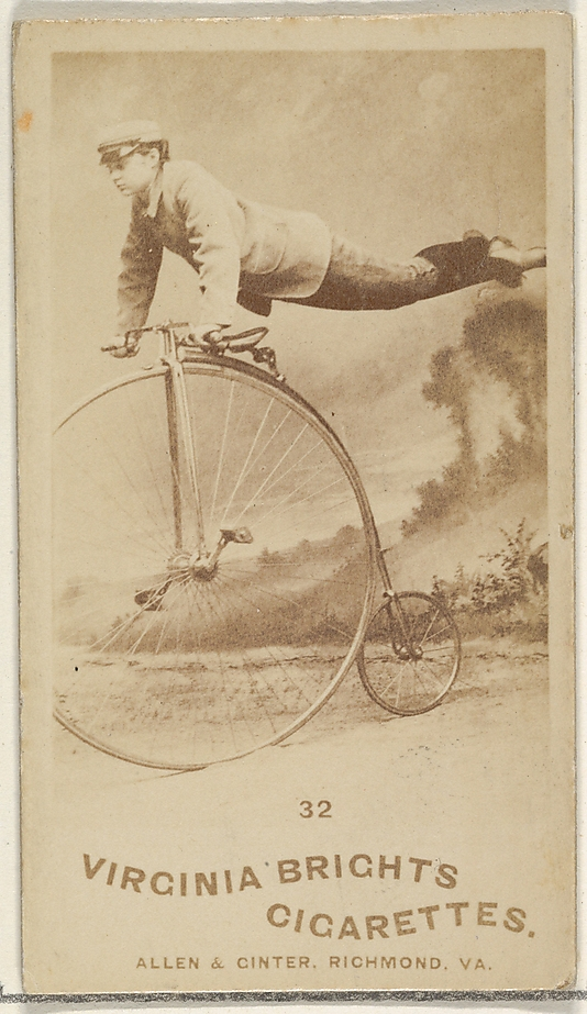 Card 32, from the Girl Cyclists series for Virginia Brights Cigarettes at the Metropolitan Museum of Art.