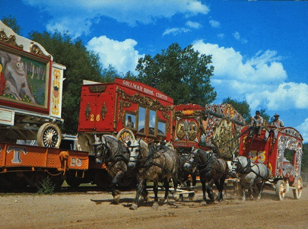 Circus train, from the archives at the New York Public Library.