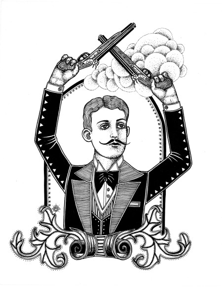 """Proust!  An image from """"All the Time in the World,"""" illustrated by Minka Sicklinger."""
