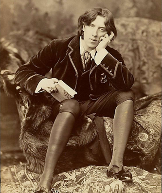 One of the slightly awkward, totally charming, portraits Oscar Wilde had made in New York in 1882, while on his American tour.